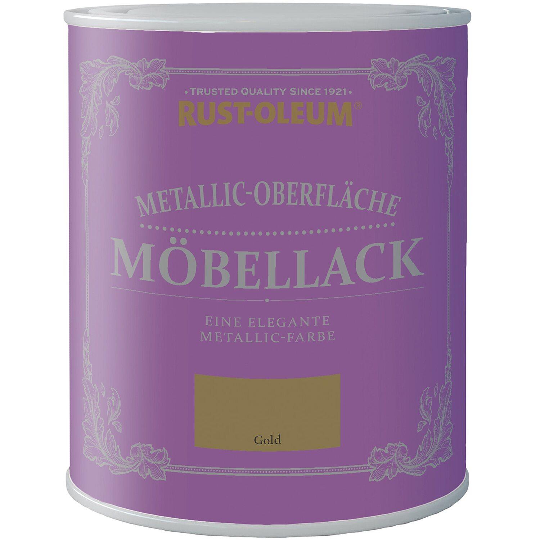 Rust-Oleum Möbellack Metallisch Gold Matt 750 ml