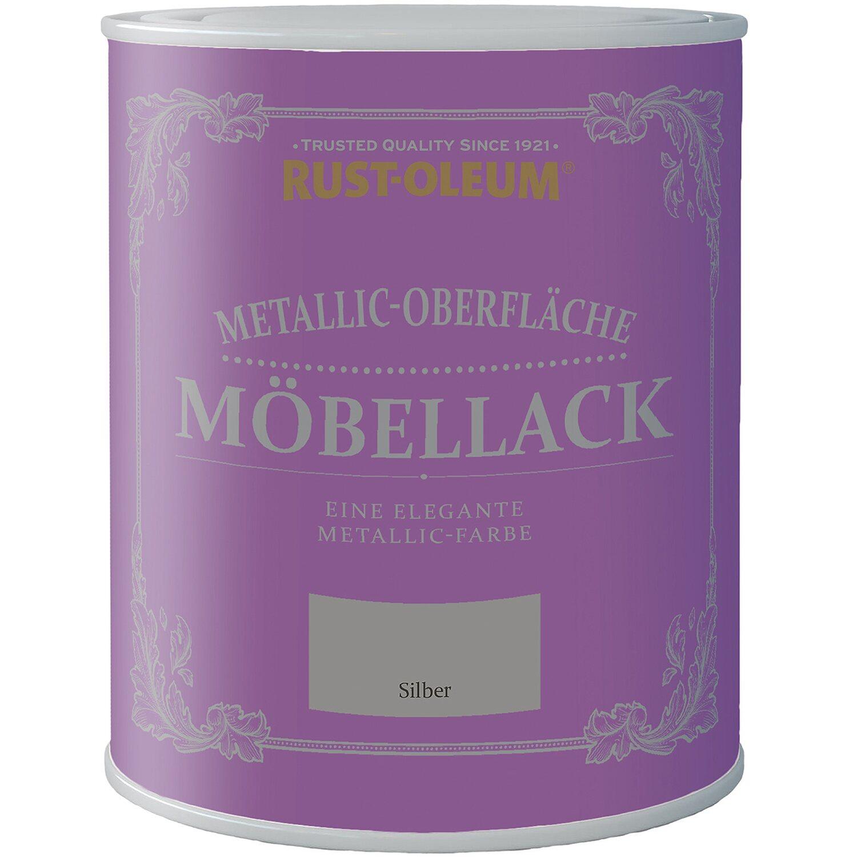 Rust-Oleum Möbellack Metallisch Silber Matt 750 ml