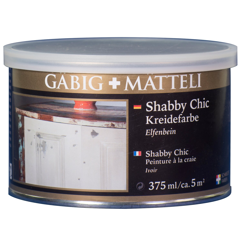 GäbigMätteli Gäbig+Mätteli Shabby Chic Kreidefarbe Elfenbein matt 375 ml