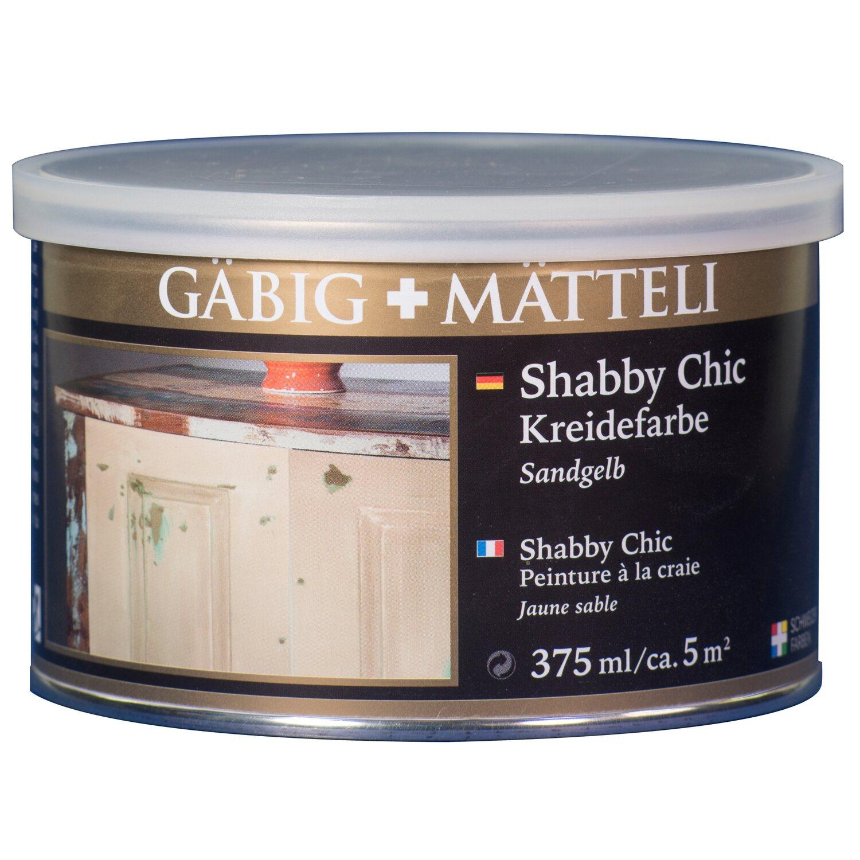 g big m tteli shabby chic kreidefarbe sandgelb matt 375 ml. Black Bedroom Furniture Sets. Home Design Ideas