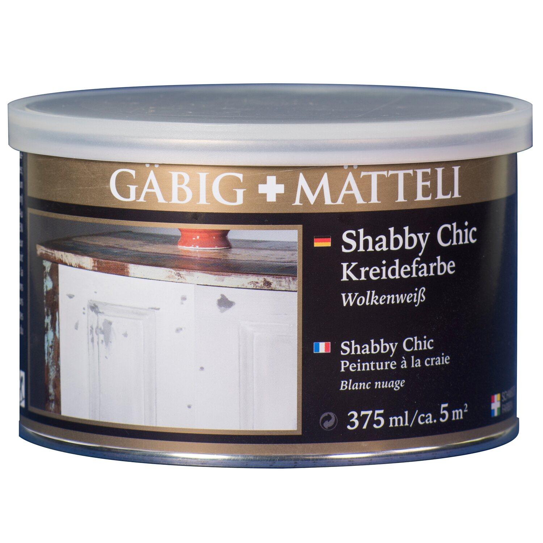 GäbigMätteli Gäbig+Mätteli Shabby Chic Kreidefarbe Wolkenweiß matt 375 ml