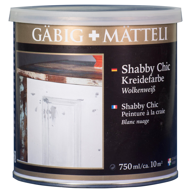 GäbigMätteli Gäbig+Mätteli Shabby Chic Kreidefarbe Wolkenweiß matt 750 ml