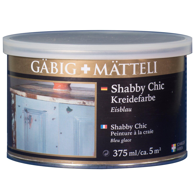 GäbigMätteli Gäbig+Mätteli Shabby Chic Kreidefarbe Eisblau matt 375 ml