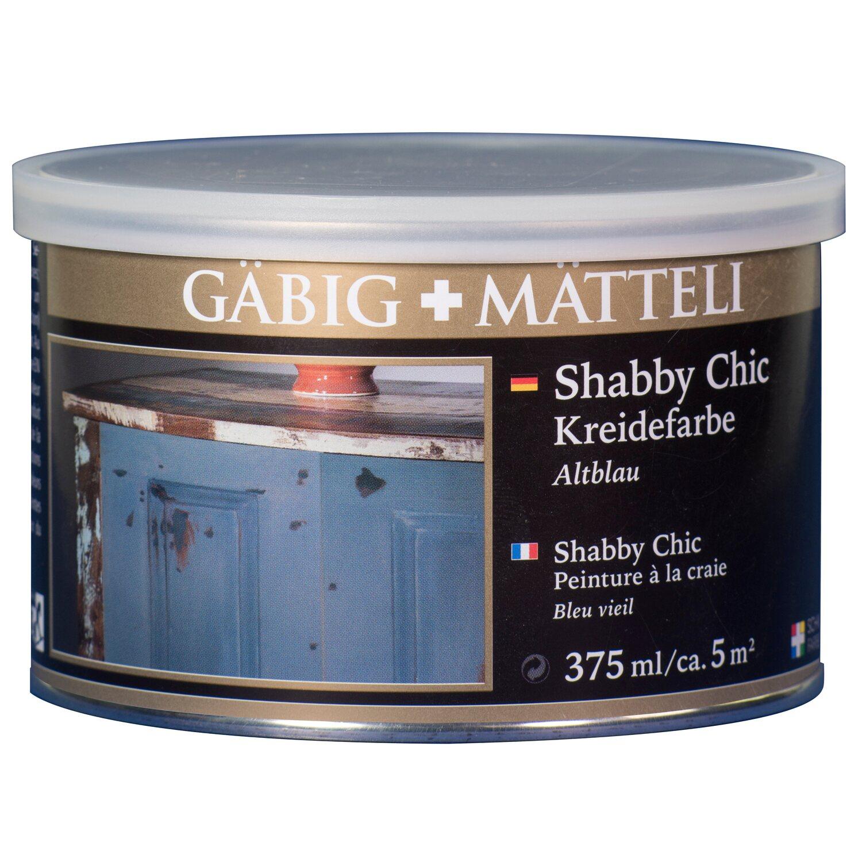 GäbigMätteli Gäbig+Mätteli Shabby Chic Kreidefarbe Altblau matt 375 ml
