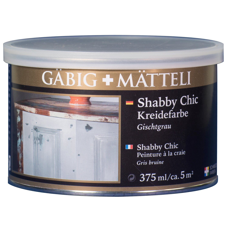 GäbigMätteli Gäbig+Mätteli Shabby Chic Kreidefarbe Gischtgrau matt 375 ml