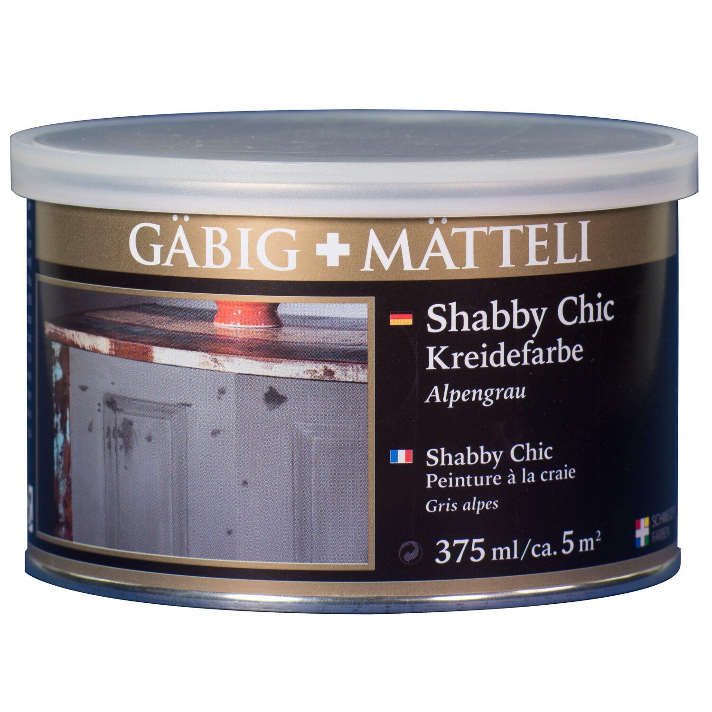 GäbigMätteli Gäbig+Mätteli Shabby Chic Kreidefarbe Alpengrau matt 375 ml
