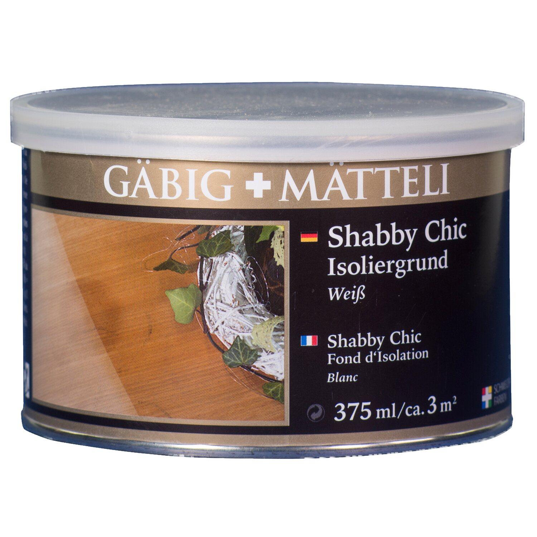 GäbigMätteli Gäbig+Mätteli Shabby Chic Isoliergrund weiß 375 ml