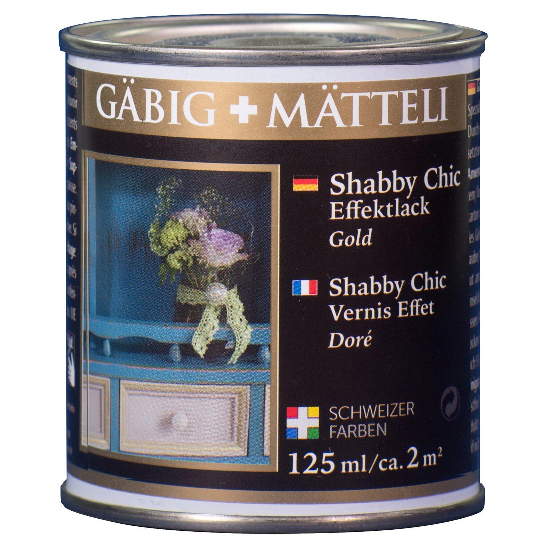 GäbigMätteli Gäbig+Mätteli Shabby Chic Effektlack Gold glänzend 125 ml