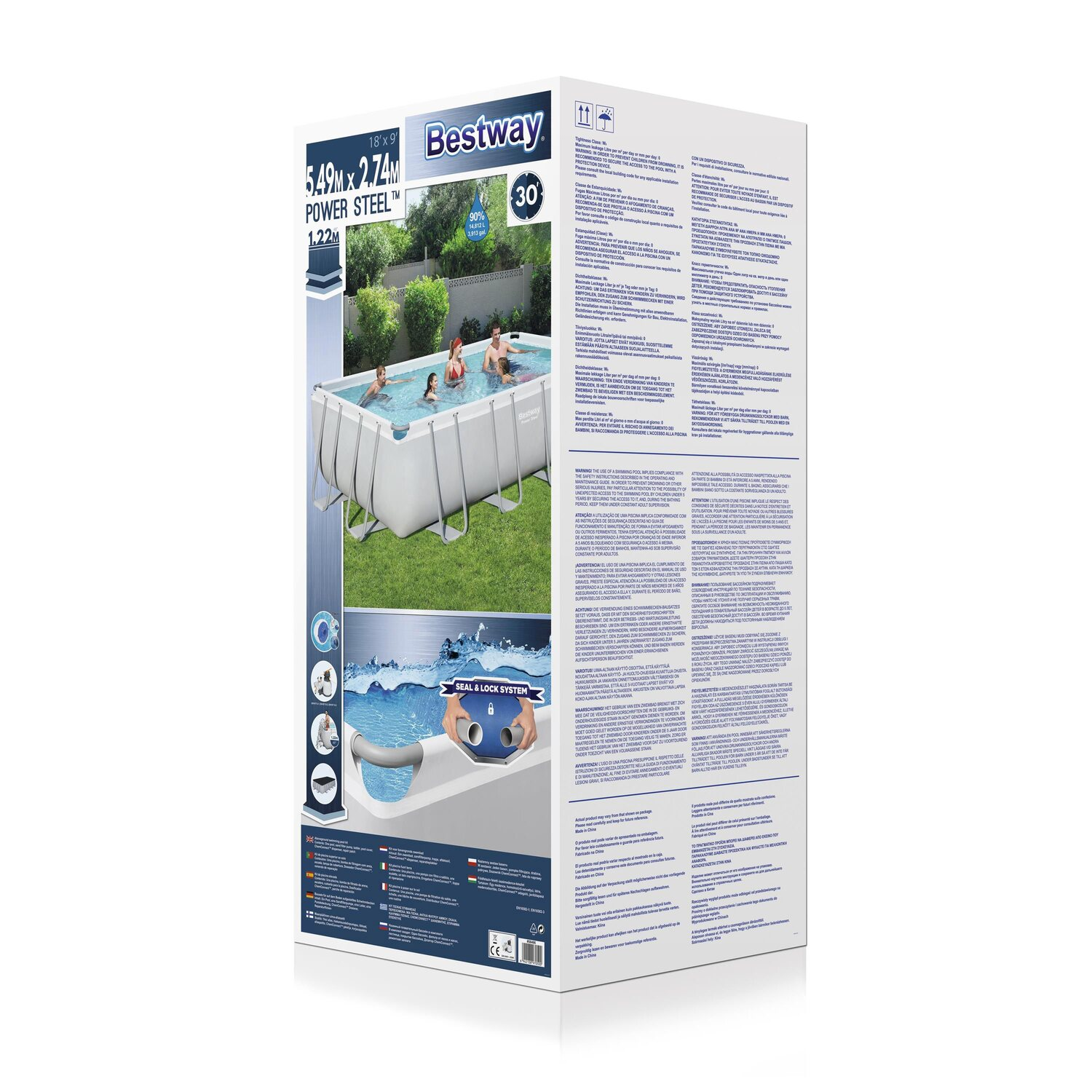 Bestway stahlrahmen pool set 549 cm x 274 cm x 122 cm for Bestway pool obi