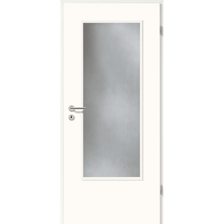 Zimmertür Dekor Weiß (GA24) LA (o. Glas) 73,5 cm x 198,5 cm Anschlag ...