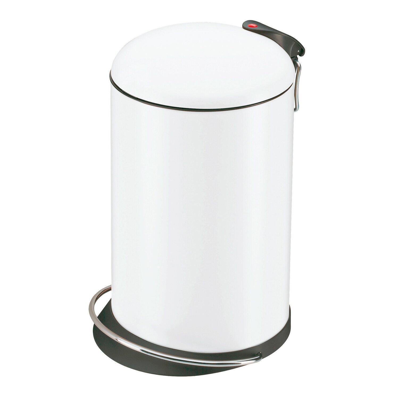 Hailo Tret-Mülleimer Trento Topdesign 13 l Weiß