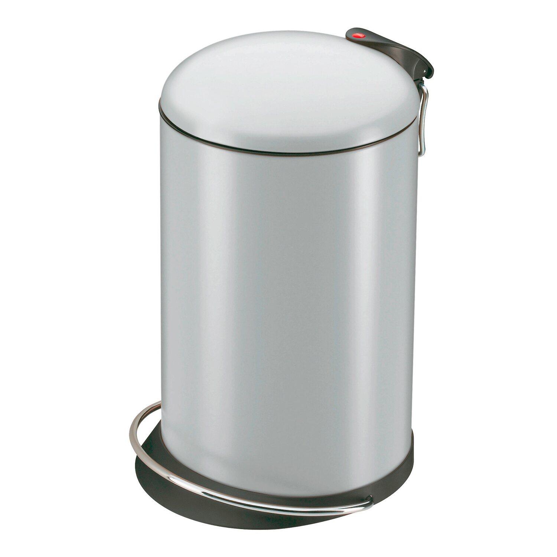 Hailo Tret-Mülleimer Trento Topdesign 16 l Silber