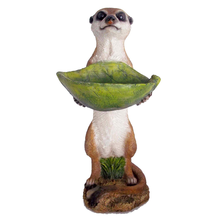 Deko-Figur Erdmännchen mit Vogeltränke 33 cm kaufen bei OBI