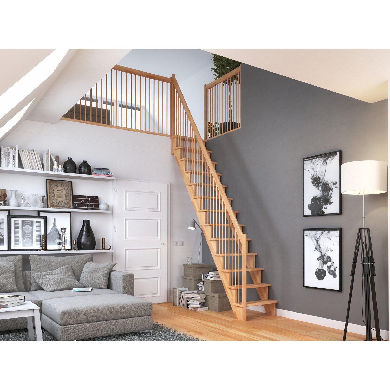 dolle raumspartreppe lyon buche holzgel nder 65 cm gerade kaufen bei obi. Black Bedroom Furniture Sets. Home Design Ideas