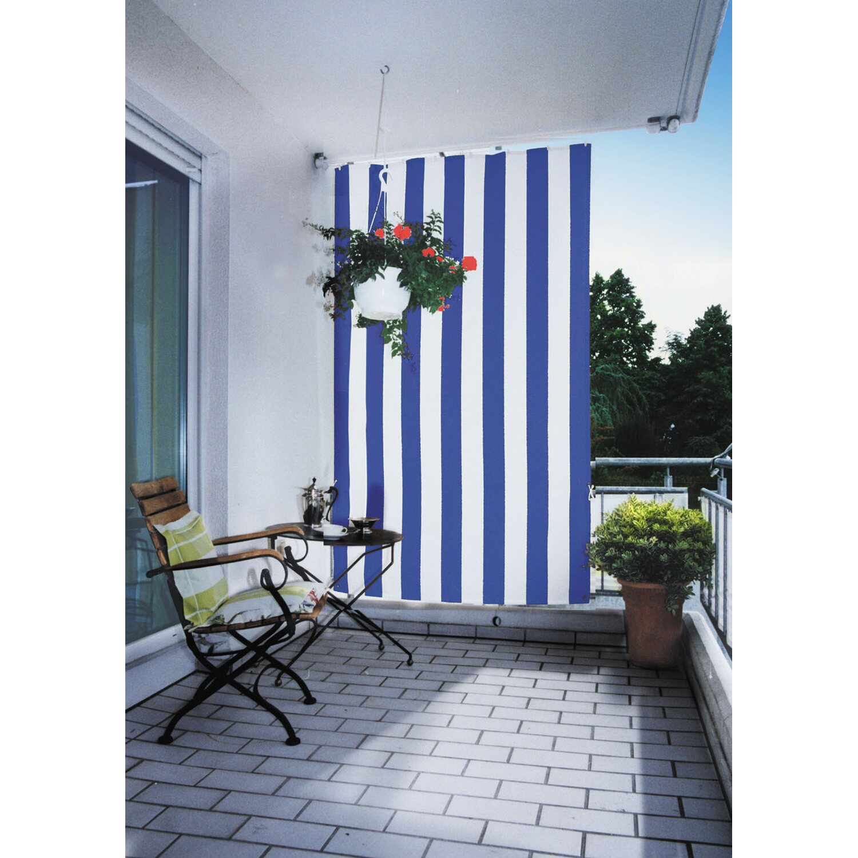 Floracord Senkrechtsonnensegel Blau-Weiß 230 cm x 140 cm