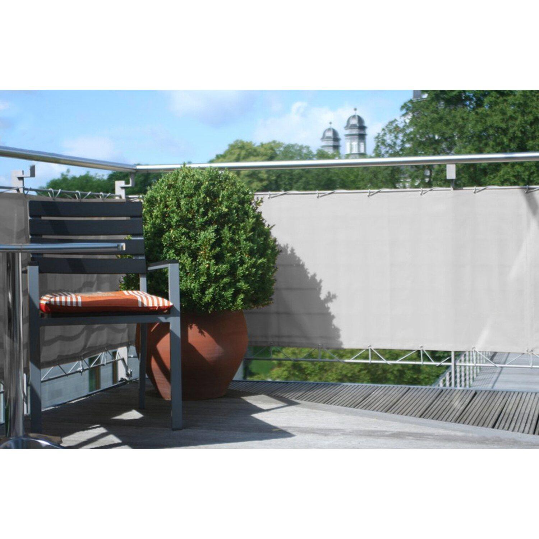 Floracord Balkonverkleidung Hell Silbergrau 75 cm x 500 cm kaufen