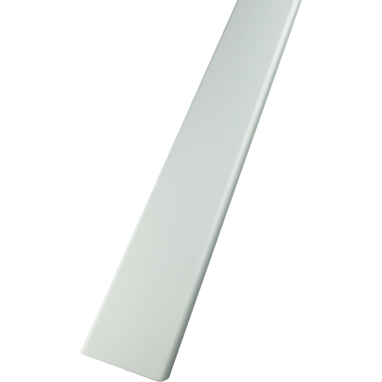 Abschlussprofil für 8cm Glasbausteine Glasstein in Aluminium weiß in 1,25m