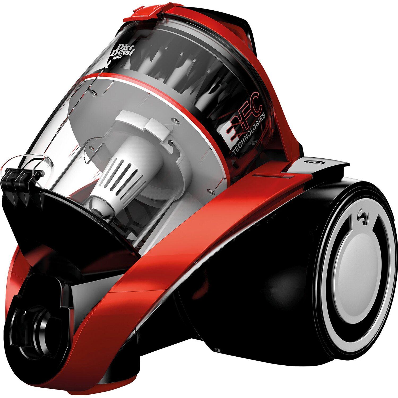 Dirt Devil Bodenstaubsauger Infinity Rebel 54HFC EEK: A 800 Watt Multicyclone Metal Red