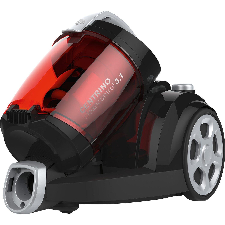 Dirt Devil Bodenstaubsauger Centrino Cleancontrol EEK: B 800 Watt Singelcylone Black Red