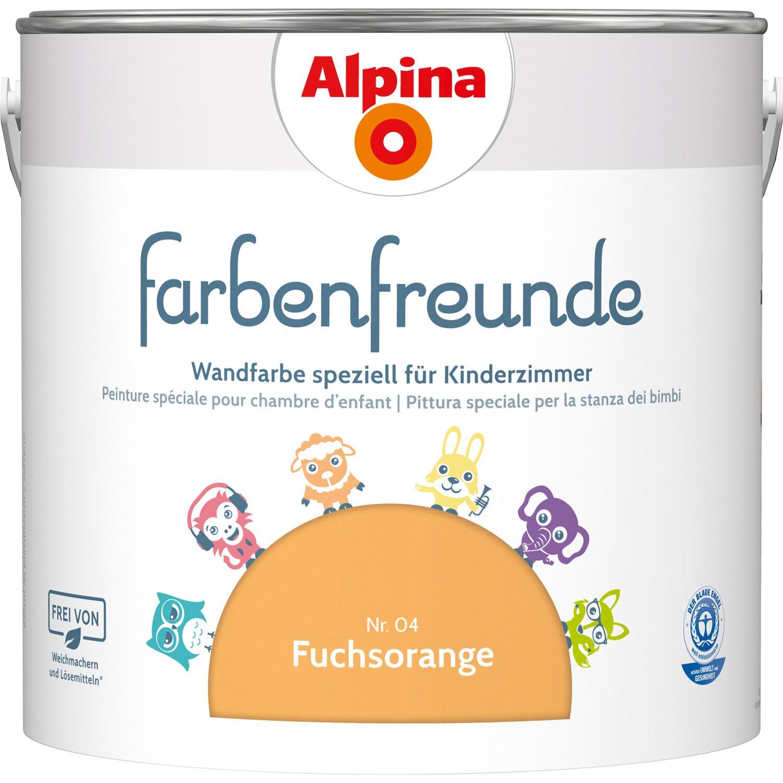 Alpina  Farbenfreunde Fuchsorange seidenmatt 2,5 l