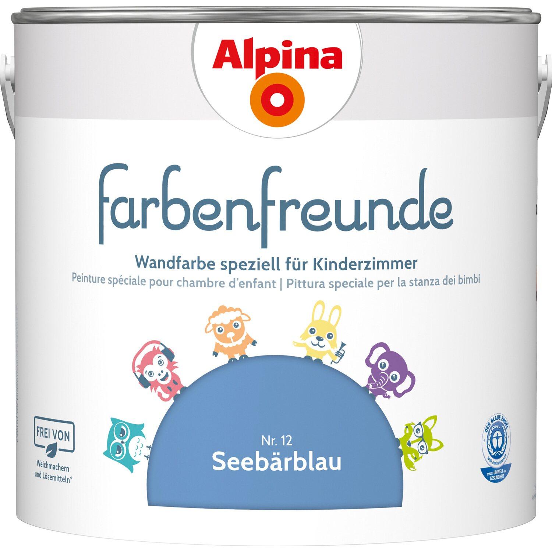 Alpina Farbenfreunde Seebärblau Seidenmatt 25 L Kaufen Bei Obi