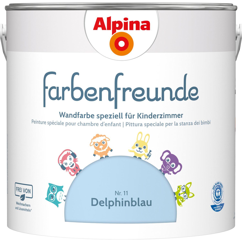 Alpina  Farbenfreunde Delphinblau seidenmatt 2,5 l