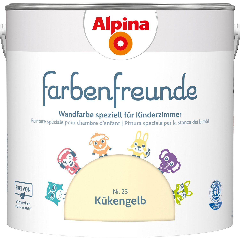Farbpalette Wandfarben Braun Obi Gasflasche: Alpina Wand- Und Deckenfarbe Farbenfreunde Kükengelb Matt