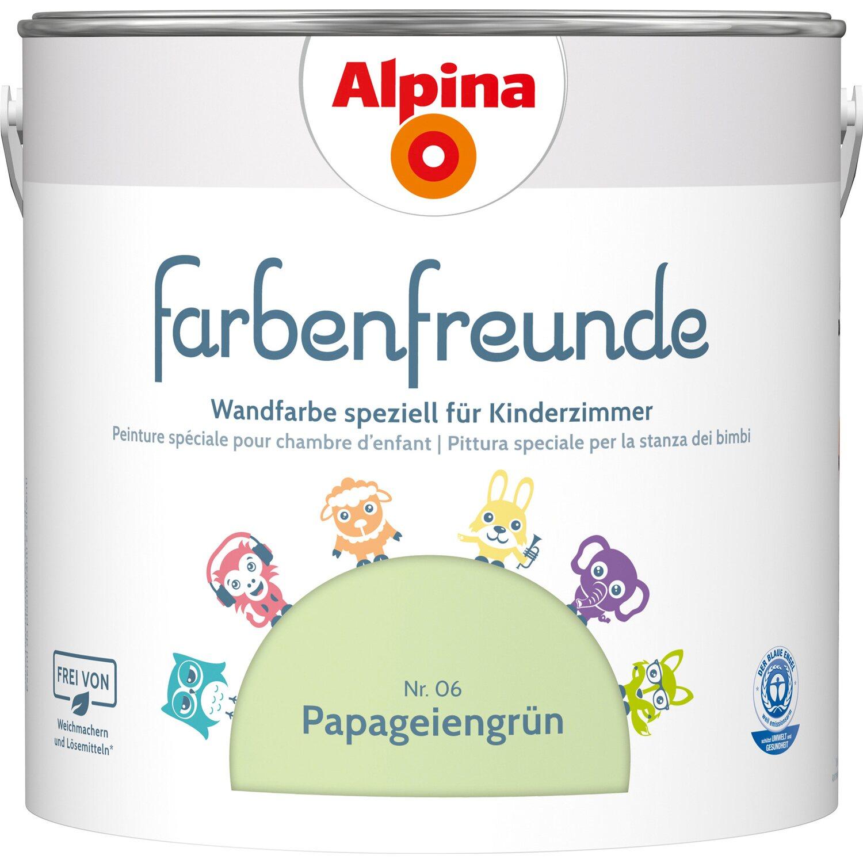 Alpina  Farbenfreunde Papageiengrün seidenmatt 2,5 l