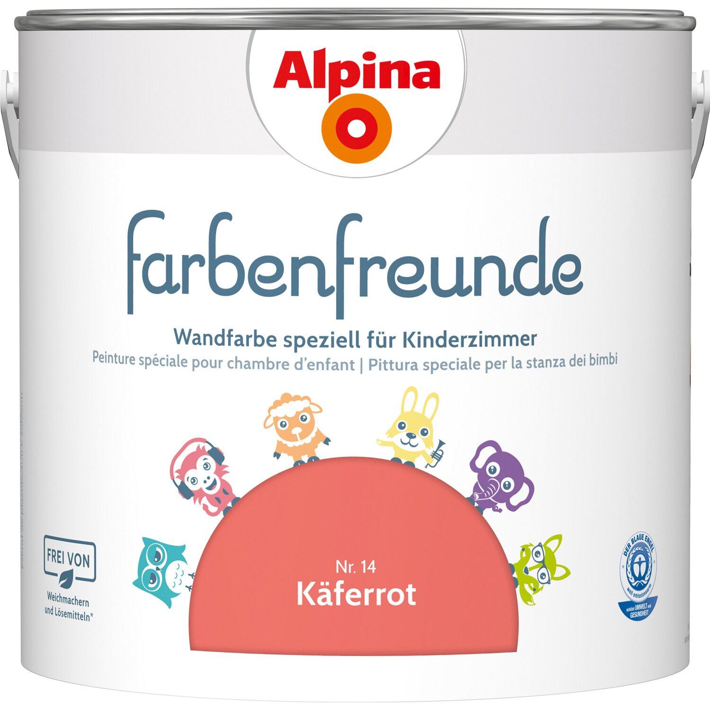 Alpina  Farbenfreunde Käferrot seidenmatt 2,5 l