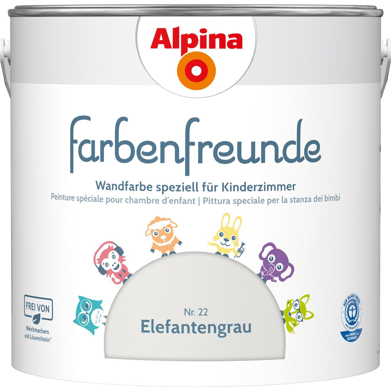 Alpina  Farbenfreunde Elefantengrau seidenmatt 2,5 l