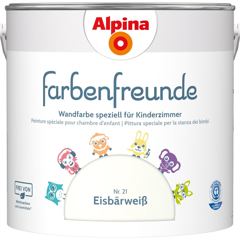 Alpina  Farbenfreunde Eisbärweiß seidenmatt 2,5 l