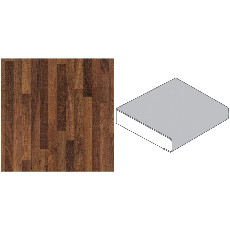 arbeitsplatte 65 cm x 3 9 cm nussbaum butcherblock dunkel bbl467pof kaufen bei obi. Black Bedroom Furniture Sets. Home Design Ideas