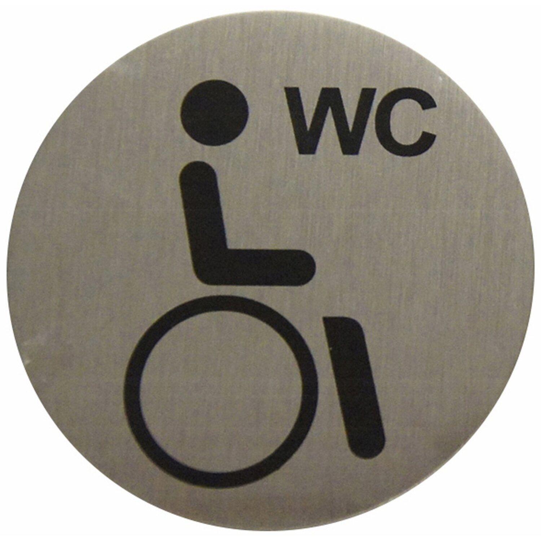 Hinweisschild Aluminium Behinderten WC