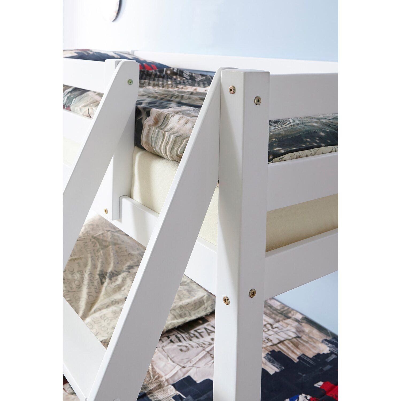 TICAA Etagenbett Maxim Buche massiv Weiß kaufen bei OBI