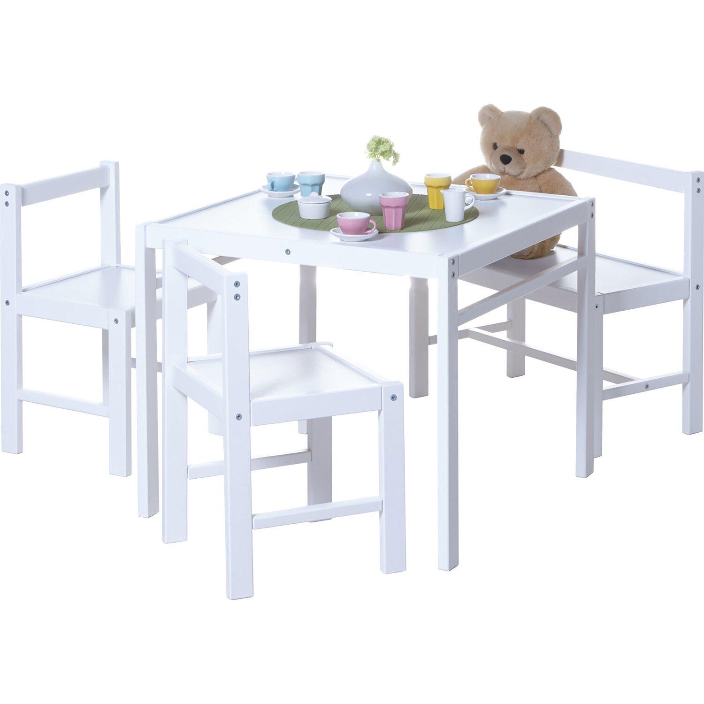 Ticaa Kinder Tischgruppe 4 Teilig Weiß Kaufen Bei Obi