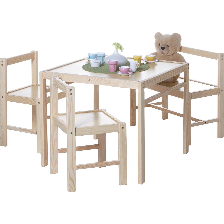 Ticaa Kinder Tischgruppe 4 Teilig Natur Kaufen Bei Obi