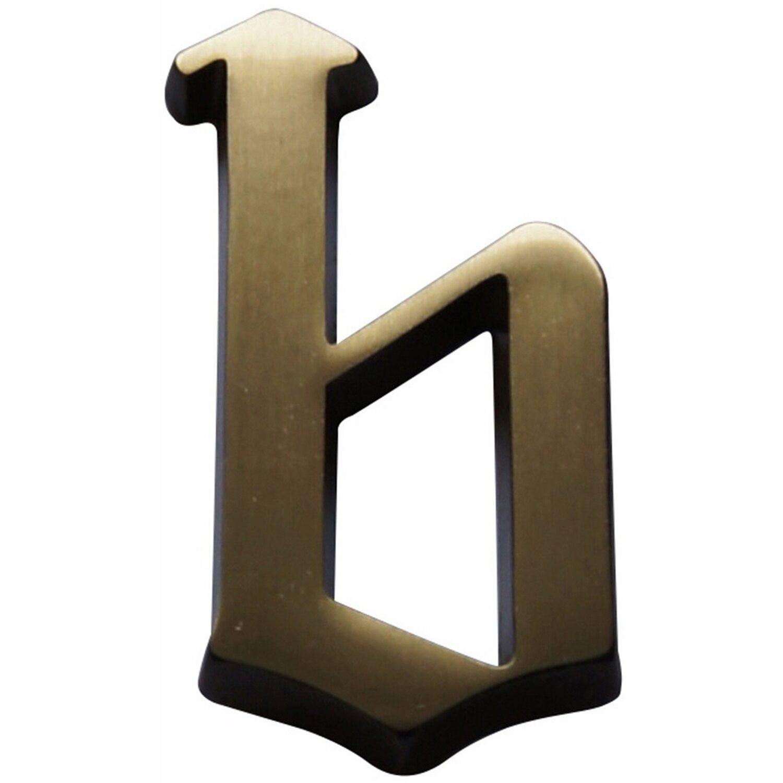 Hausnummer b Bronze