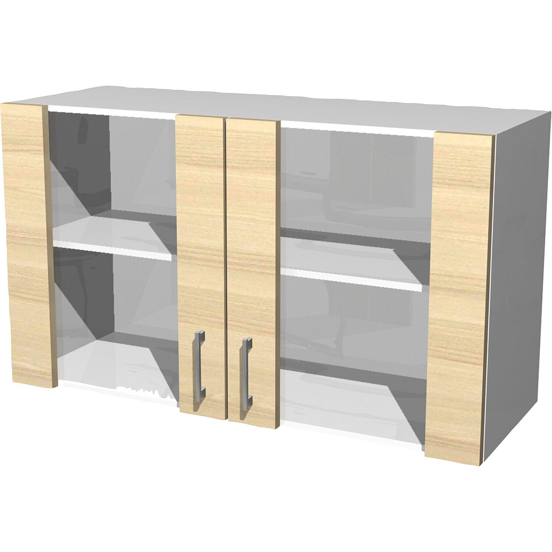 flex well exclusiv glas h ngeschrank akazia 100 cm akazie kaufen bei obi. Black Bedroom Furniture Sets. Home Design Ideas
