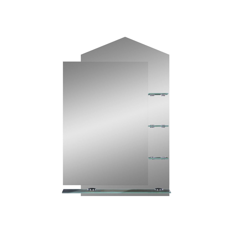 glas auf glas spiegel lana mit glasablagen kaufen bei obi. Black Bedroom Furniture Sets. Home Design Ideas