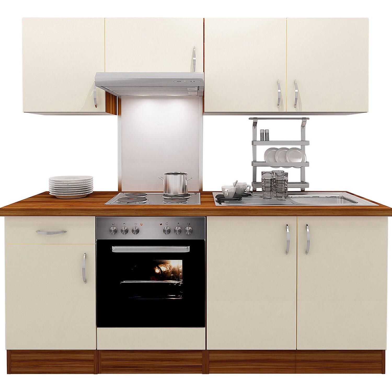 Flex-Well Exclusiv Küchenzeile Sienna 210 cm Creme-Zwetschge ...