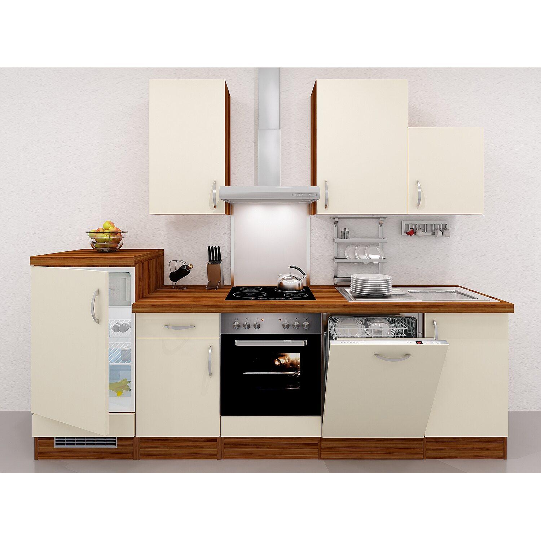 flex well exclusiv k chenzeile sienna 280 cm creme zwetschge kaufen bei obi. Black Bedroom Furniture Sets. Home Design Ideas