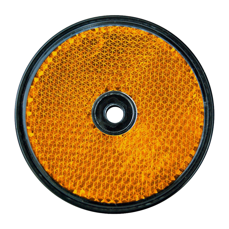 las runder reflektor f r pkw anh nger 2 st ck orange. Black Bedroom Furniture Sets. Home Design Ideas