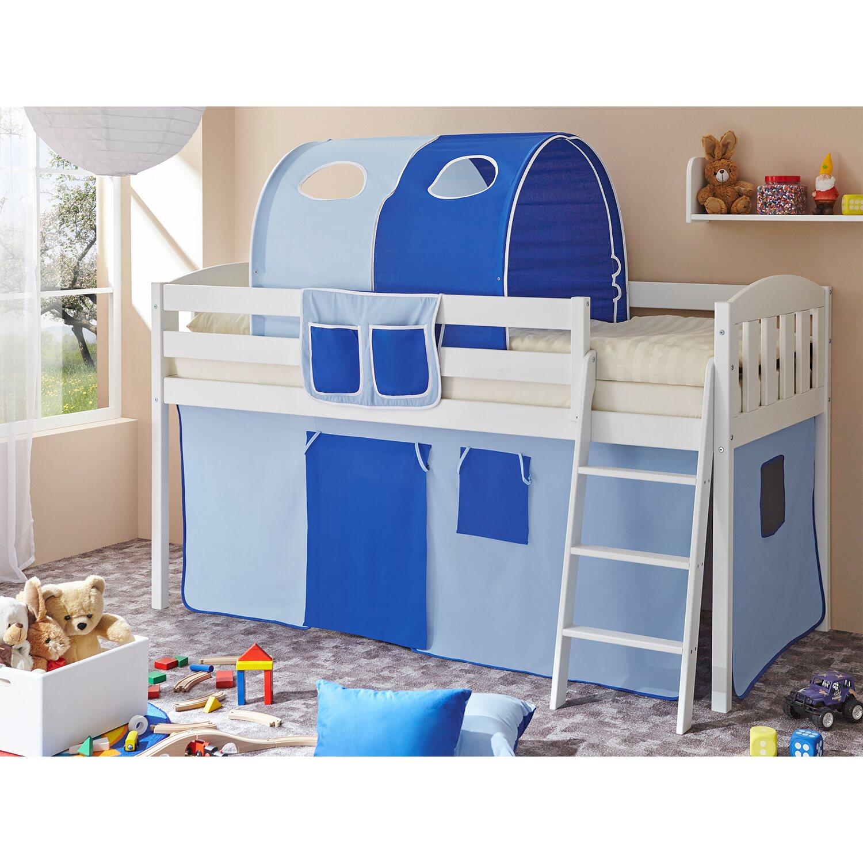 ticaa hochbett eric v kiefer wei hellblau dunkelblau kaufen bei obi. Black Bedroom Furniture Sets. Home Design Ideas