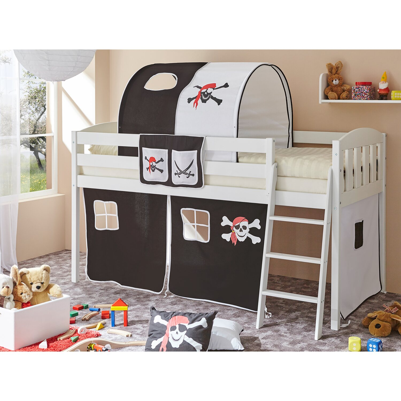 ticaa hochbett eric v kiefer wei pirat schwarz wei kaufen bei obi. Black Bedroom Furniture Sets. Home Design Ideas