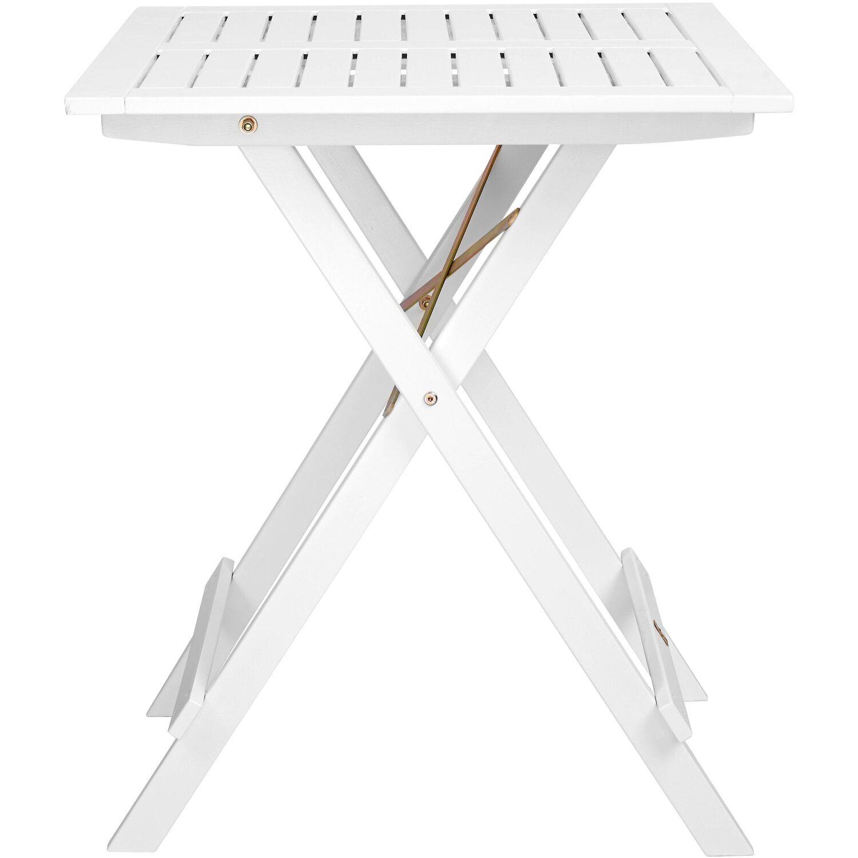 Lodge Gartentisch klappbar 32 x 32 x 32 cm Holz Weiß