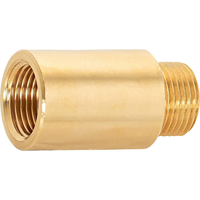 OBI Hahnverlängerung 14,9 mm (Rp 3/8) x 16,7 mm (R 3/8) Messing 30 mm