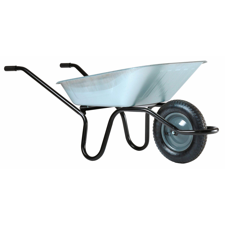 einrad schubkarre 90 l muldenvolumen verzinkt gestell 28 mm kaufen bei obi. Black Bedroom Furniture Sets. Home Design Ideas