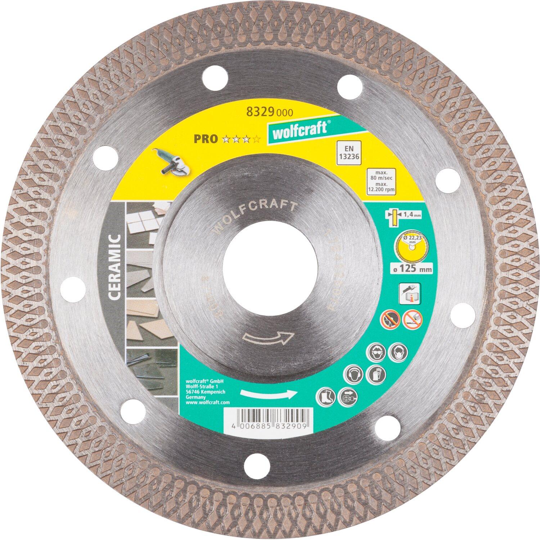 Wolfcraft Diamant-Trennscheibe Pro Ceramic für Winkelschleifer Ø 125 mm