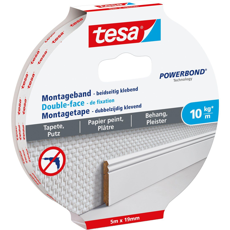 Tesa Montageband für Tapeten und Putz 5 m