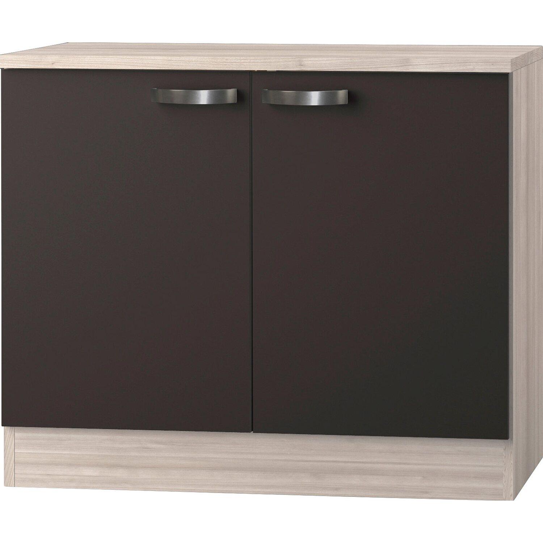 optifit sp lenschrank inkl arbeitsplatte ohne einbausp le optikult faro 100 cm kaufen bei obi. Black Bedroom Furniture Sets. Home Design Ideas